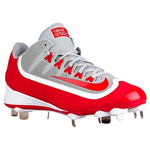 Nike Mens Huarache 2kfilth Keystone Mid Tacchetta Da Baseball Rossa / Bianca
