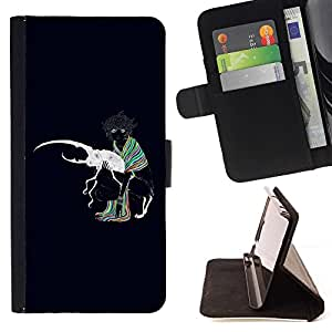 DEVIL CASE - FOR Samsung Galaxy S3 III I9300 - Abstract Colors Painting - Style PU Leather Case Wallet Flip Stand Flap Closure Cover