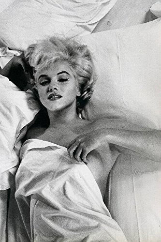 RARE Photograph of Marilyn Monroe Hot Mess in Bed 12x18 Art Printed Poster MADE IN THE USA - Marilyn Monroe Photographs