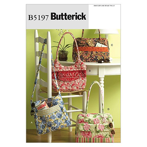 Butterick Patterns B5197 Bags, One Size Only