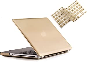 RUBAN MacBook Pro 13 Case 2012 2011 2010 2009 Release A1278, Hard Case Shell Cover and Keyboard Skin Cover for Apple MacBook Pro 13 Inch with CD-ROM - Gold