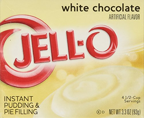 Chocolate White Filling (Jell-o Instant Pudding & Pie Filling, White Chocolate, 3.3-ounce Boxes (Pack of 4))