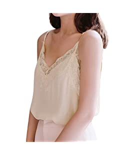 vermers 2028 New Womens Tank Tops Ladies Casual Lace Sleeveless Vest Blouse White