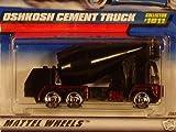 Hot Wheels Oshkosh Cement Truck #1011 BLACK 1:64 Scale