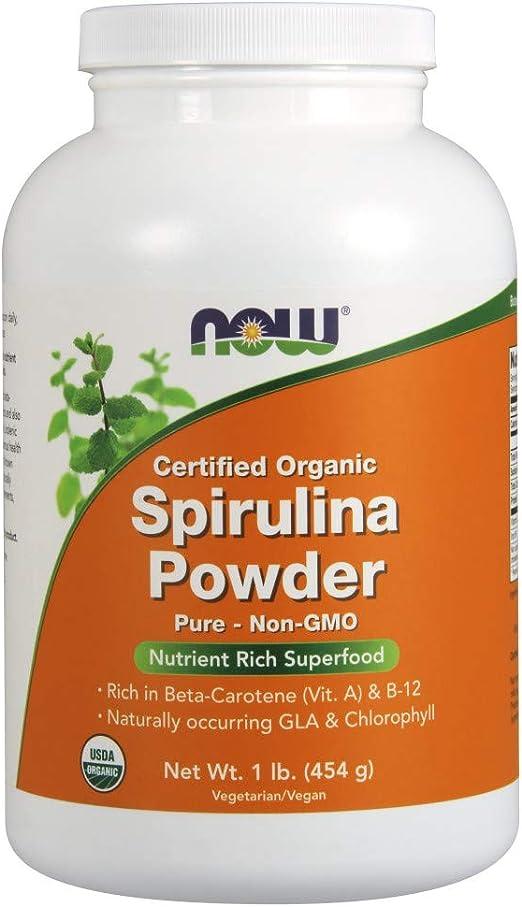 Now Foods - Espirulina en polvo (Spirulina Powder), Orgánica, Apto Veganos, 454g: Amazon.es: Salud y cuidado personal
