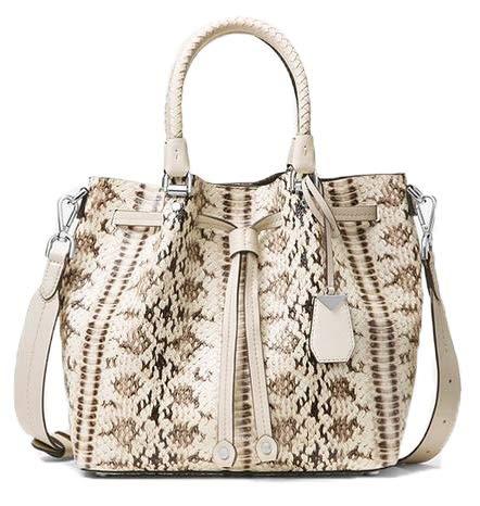 Embossed Bag Bucket - Michael Kors Blakely Snake Embossed Leather Medium Bucket Bag Purse