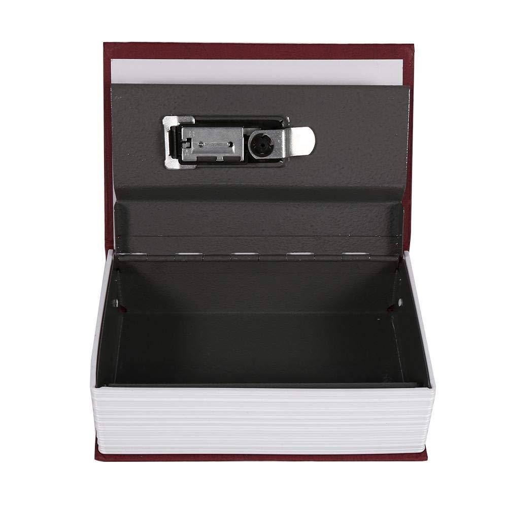 Noir Bo/îte de s/écurit/é Dictionnaire cachette Livre Coffre-fort de Stockage avec Combinaison Serrure Rangement de S/écurit/é