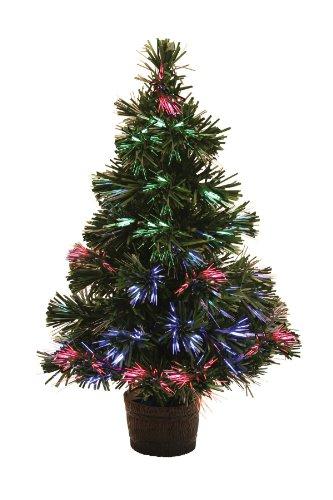 Miniature LED Fibre Optic Christmas tree - 30cm tall - battery operated:  Amazon.co.uk: Lighting - Miniature LED Fibre Optic Christmas Tree - 30cm Tall - Battery