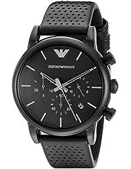 Emporio Armani Mens AR1737 Dress Black Leather Watch