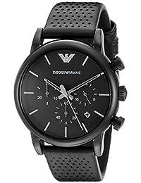 Emporio Armani Men's AR1737 Classic Analog Display Analog Quartz Black Watch
