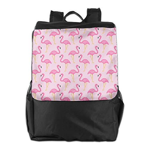 Pink Travel Outdoors Camping Party HSVCUY School Strap Flamingos Backpack Storage Men Shoulder Personalized and For Women Dayback Adjustable cftWqt5pwY