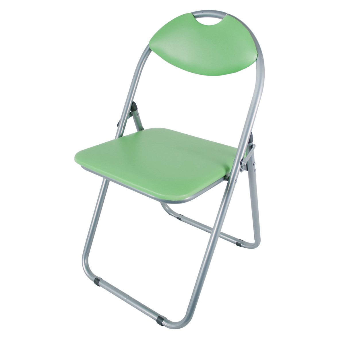 Benross Paris Faux Leather and Steel Folding Dining Chair, 43.5 x 46 x 79.5 cm, Green Benross Group 69210