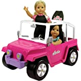 Doll Car, 4x4 Doll Beach Cruiser for 18 Inch Dolls Like American Girl, Fits Two 18