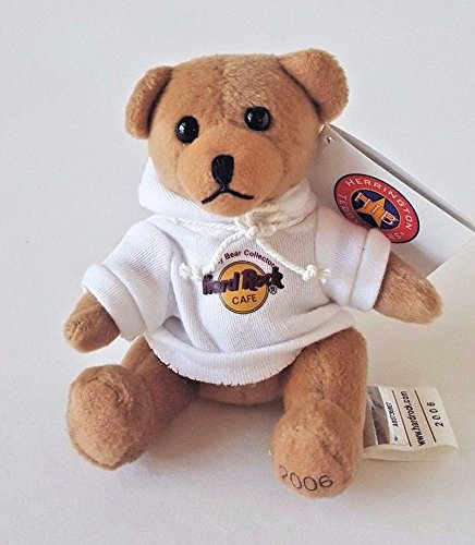 HERRINGTON TEDDY BEARS HARD ROCK CAFE MINI TEDDY BEAR W/ HOODIE 4.5