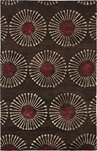 "Safavieh Soho Collection SOH821B Handmade Coffee and Brown Wool Area Rug, 8 feet 3 inches by 11 feet (8'3"" x 11')"