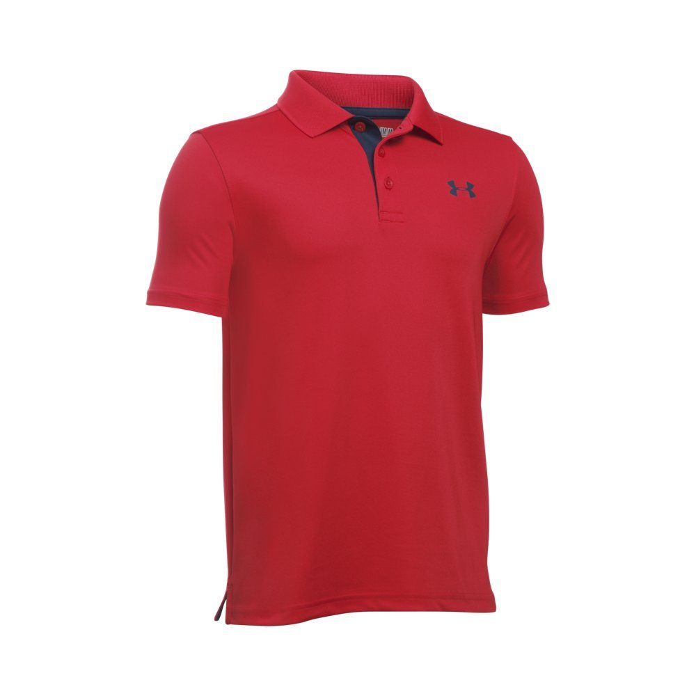 Under Armour Boys' Performance Polo, Red