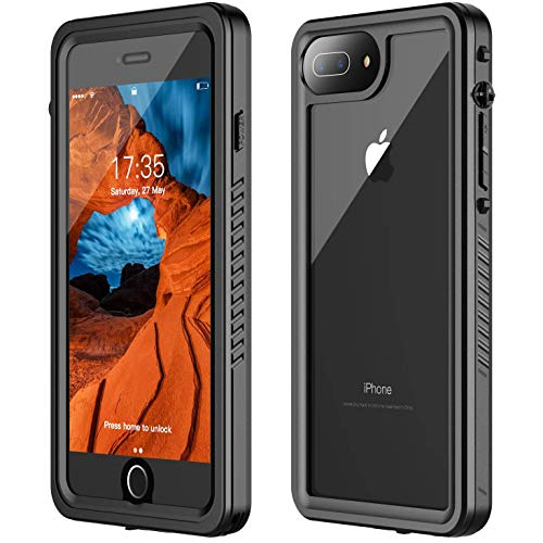 iPhone 7 Plus Waterproof Case,iPhone 8 Plus Waterproof Case. GOLDJU 2019 Full Body Protective IP68 Underwater Shockproof Dirtproof Sandproof Waterproof Case for iPhone 7 Plus/iPhone 8 Plus(5.5)