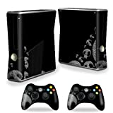 MightySkins Protective Vinyl Skin Decal Cover for Microsoft Xbox 360 S Slim + 2 Controller skins wrap sticker skins Skull Attack