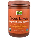 Now Foods, Real Food, Cocoa Lovers, Organic Cocoa Powder, 12 oz (340 g) - 3PC