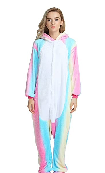 ELEPHANT DANCING Animal Cosplay Disfraz Pijama Adulto Unicornio Pijama, Arco iris