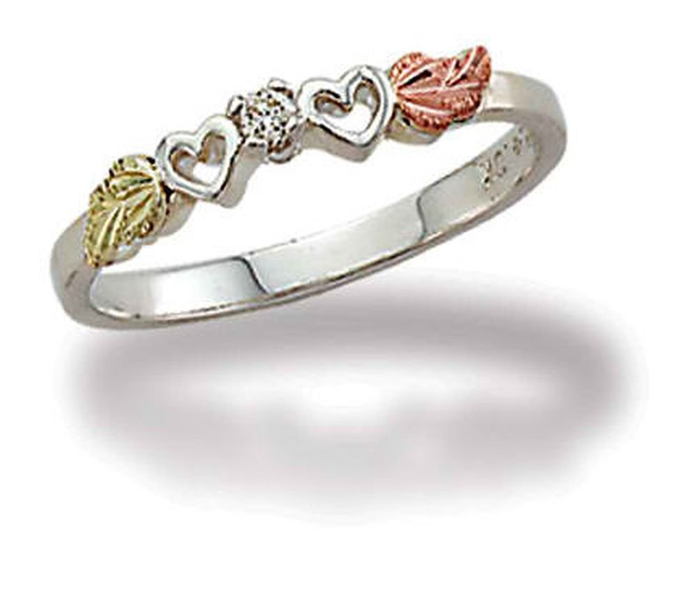 Landstroms Black Hills Silver Diamond Heart Ring - 02840XSS