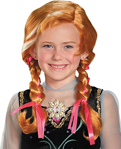 Windy City Novelties Frozen Anna Child Wig, Red, One Size