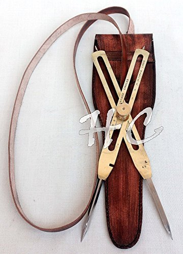 Humaira Nauticals Brújula de latón de 22,86 cm, Herramienta de Manualidades, Divisor proporcional, Instrumento científico,...