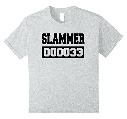 Kids Slammer Jail Inmate Halloween Costume Tshirt Men Women Youth 10 Heather (The Slammer Halloween)