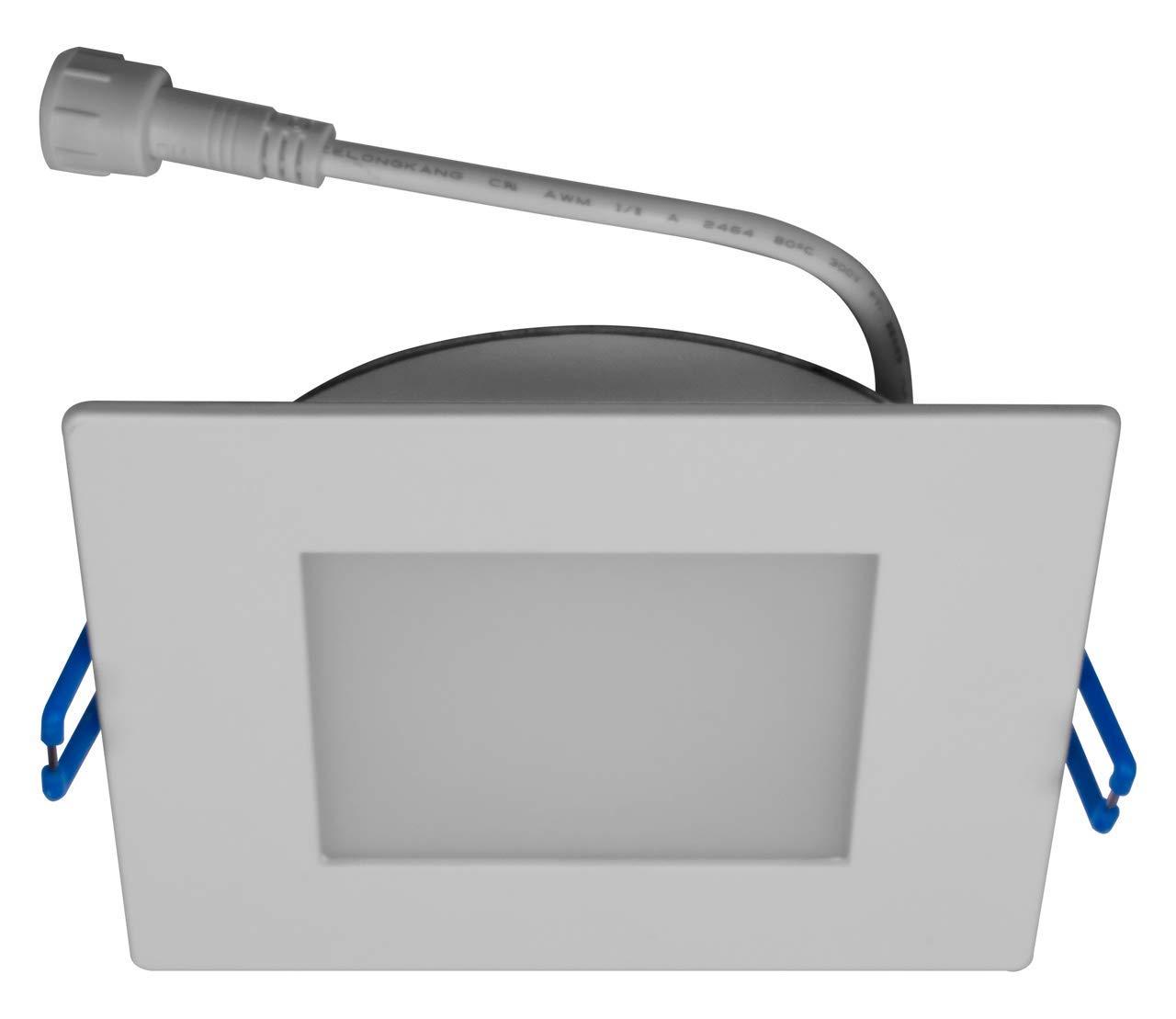NICOR LIGHTING DLE621205KSQWH 6インチ スクエアエッジ リット LED レトロフィット ダウンライト 5000K B07K6B5VJS