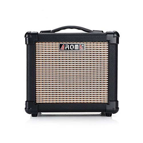 aroma ag 10 10w black guitar amplifier speaker box handy portable acoustic electric guitar amp. Black Bedroom Furniture Sets. Home Design Ideas