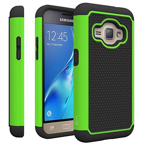 Samsung Galaxy Express 3 Case, Samsung Luna case (2016), CoverON (Neon Green Hard Case)