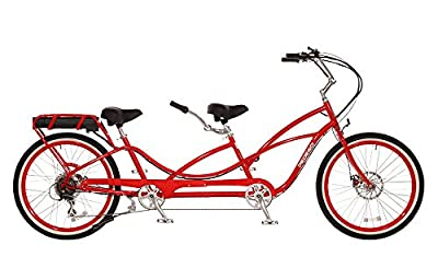 Pedego Tandem Red with White Wall Tires 48V 15Ah