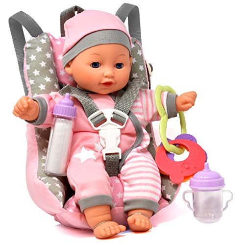 Baby Doll Car Seat with Toy Acce...
