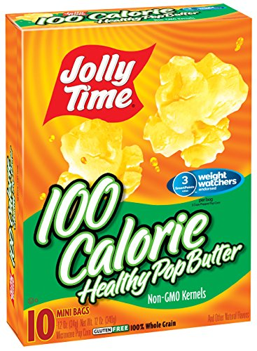 Mini Microwave Popcorn (Jolly Time Healthy Pop Butter Microwave Popcorn Weight Watchers Single Serve Mini Bags, 10 Count (Pack of 3))
