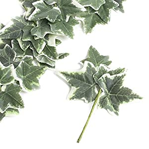 Factory Direct Craft Group of 6 Versatile Artificial Ivy Leaf Picks for Wedding Decor, Floral Arranging and Embellishing 118