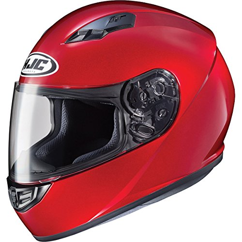 HJC Solid Adult CS-R3 Street Motorcycle Helmet - Candy Red/Medium
