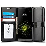 LG G5 Case, J&D [Wallet Stand] LG G5 Wallet Case Heavy Duty Protective Shock Resistant Wallet Case for LG G5 (Black/Brown)