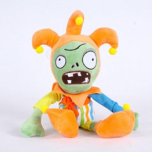 (TavasHome Plants vs Zombies 2 PVZ Figures Plush Baby Staff Toy Stuffed Soft Doll 13cm-35cm Soft PP Cotton (Jester Zombie))