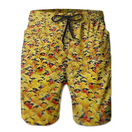 (AMRANDOM Men Casual Rubber Ducky Sunglasses Board Shorts Slim Fit Summer Drawstring Beach Shorts, Surfing Trunks with Pockets for Teen Boy,(XXL))