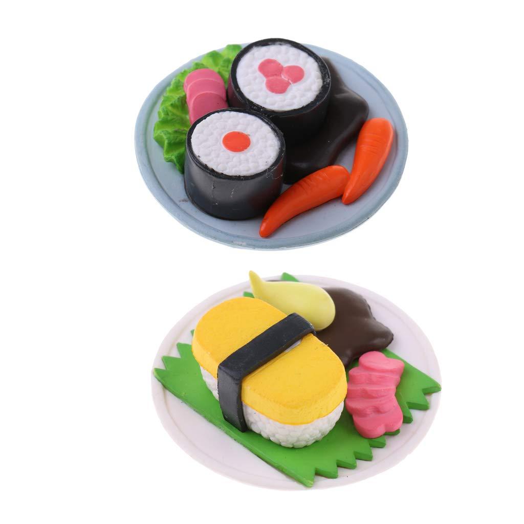 Amazon.es: KESOTO 1/12 Modelo de Comidfa Japonesa Sushi de ...