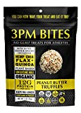 Cheap 3PM BITES TRUFFLES – USDA Organic, Plant Based, Vegan, Paleo, Non-GMO, No Added Sugar, Superfoods and Grains – Great tasting on the go snack treats for everyone (Peanut Butter 6 Bags)