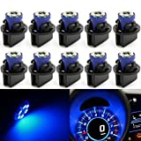 dash board 2001 dodge ram 1500 - Partsam T10 194 LED Light bulb 168 LED Bulbs Bright Instrument Panel Gauge Cluster Dashboard LED Light Bulbs Set 10 T10 LED Bulbs with 10 Twist Lock Socket – Blue