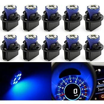 cciyu 6 Pack Blue T5 B8.4D Tri-cell 5050 1SMD LED Car Dashboard Dash GaugeSide Indicator Light Lamps