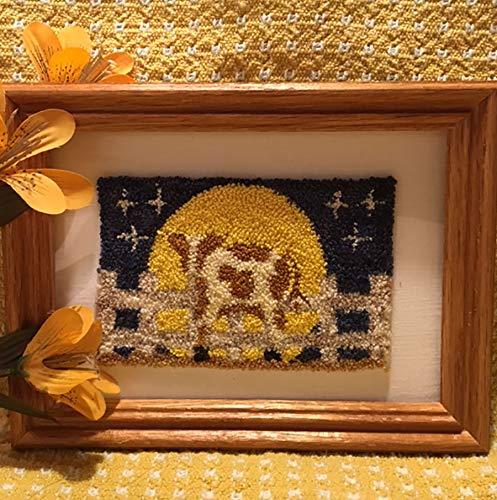 Punch Needle EmbroideryGINGER & T HARVEST MOON Framed Piece