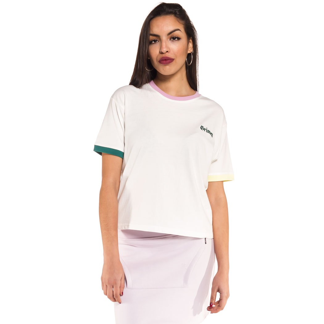 TALLA L. Grimey Camiseta Chica Jade Lotus tee SS18 White
