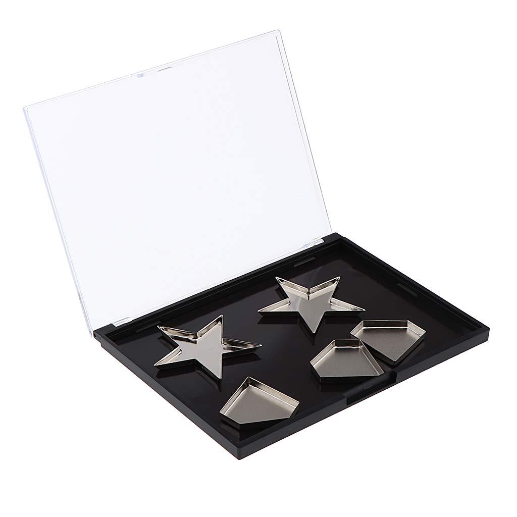 Sharplace Estuches de Maquillaje Magnécticos Vacíos Profesionales con Sartenes de Estrella Diamante Cuadradas - Sartenes de diamante: Amazon.es: Belleza