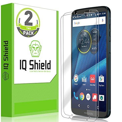 Moto Z3 Play Screen Protector, IQ Shield LiQuidSkin Full Coverage Screen Protector for Moto Z3 Play (Moto Z3 Verizon Version)[2-Pack] HD Clear Anti-Bubble Film