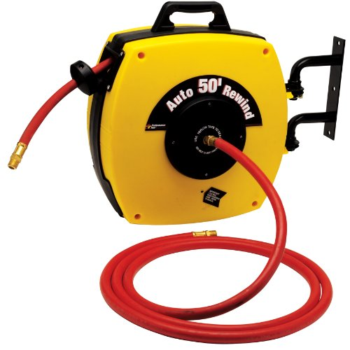 Performance Tool M630 Auto Retractable Hose Reel with 50-Foot Hose (Coxreel Performance Reel)