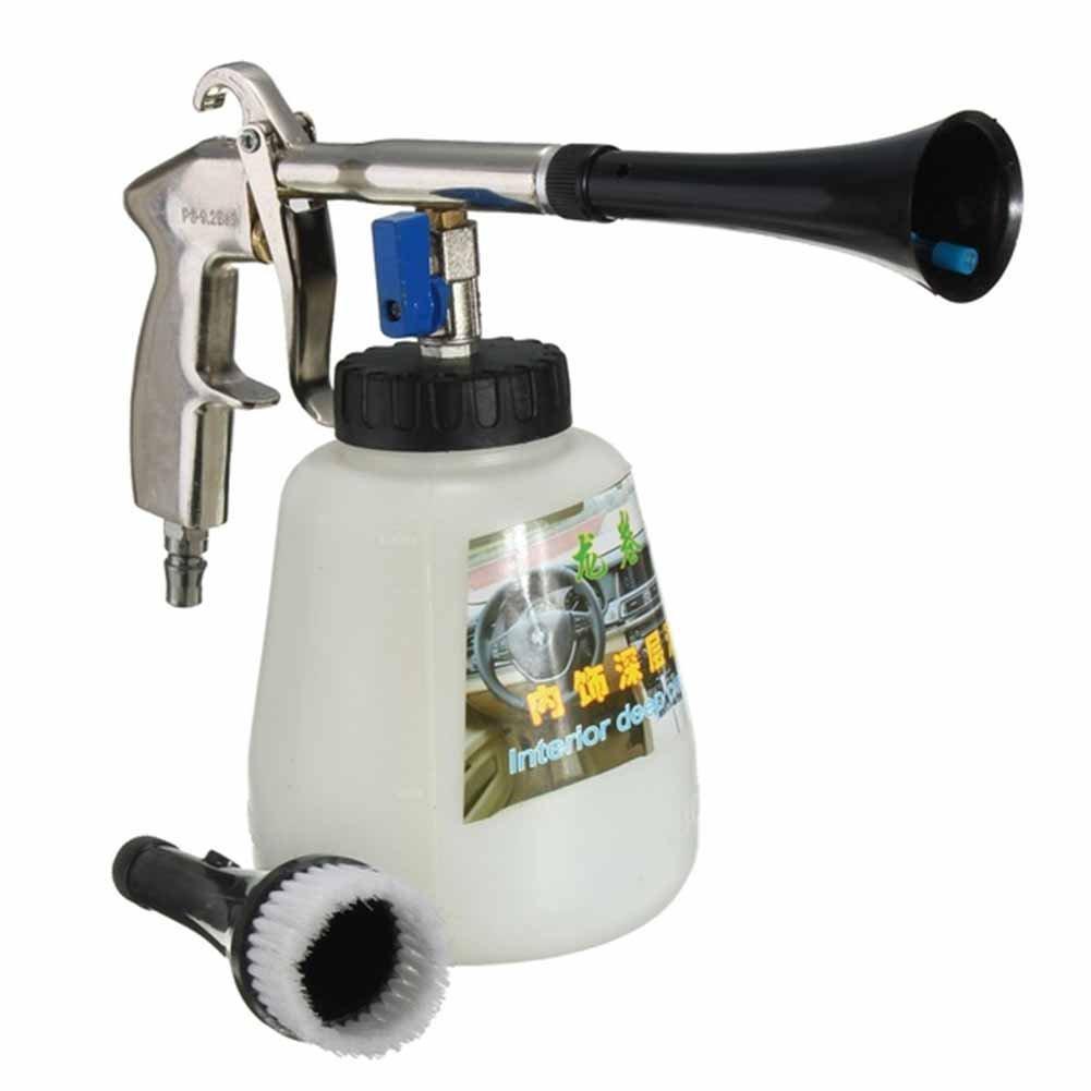 Intérieur de voiture à laver Pistolet à eau Buse de pistolet pulvérisateur avec brosse haute pression Pulvérisateur de nettoyage à air Intérieur Rondelle Outil Care pour auto voiture moto véhicule