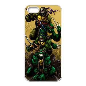 Teenage Mutant Ninja Turtles Cartoon iPhone5s Cell Phone Case White TPU Phone Case SV_313797